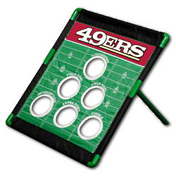 San Francisco 49ers Football Field Bean Bag Toss Game