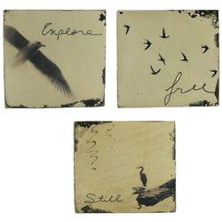 Birds Inspirational Vintage Block Art