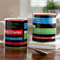 Memory Lane Personalized Birthday Mug