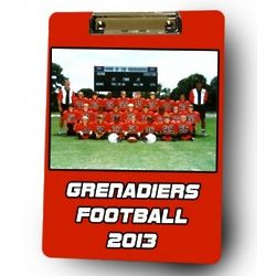 Personalized Football Coach Photo Clipboard
