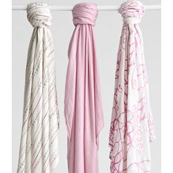 Bamboo Swaddling Blankets in Tranquility Pink