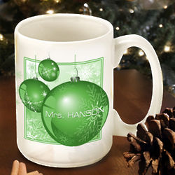 Winter Holiday Personalized Coffee Mug
