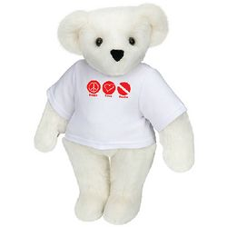 Peace, Love, Scuba Teddy Bear Stuffed Animal