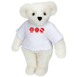 Peace, Love, Scuba Teddy Bear Stuffed Animal