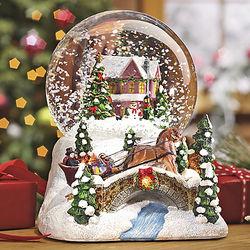 Lit Christmas Village Snowglobe