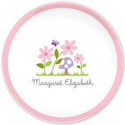 Girl's Personalized Bloom Plate