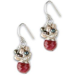 Crimson Drop Earrings