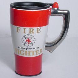 Firefighter's Ceramic Travel Mug