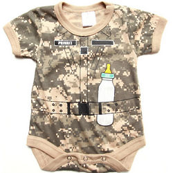 Infant Boys Camouflage Soldier Bodysuit
