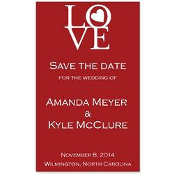 Circle of Love Personalized Save the Date Magnet
