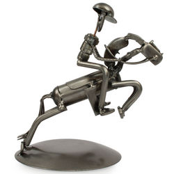 Rustic Jockey Auto Part Sculpture