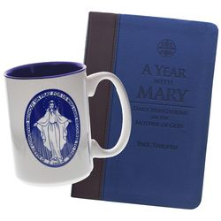 A Year with Mary Mug and Book Gift Set