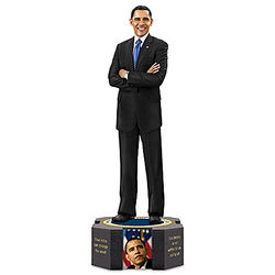President Barack Obama Farewell Sculpture with Quote Base