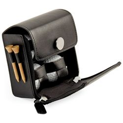 Golf Accessories Set in Black Leather Case
