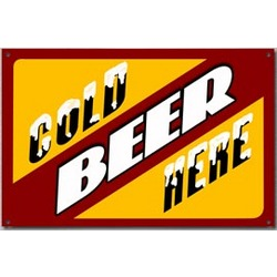 Cold Beer Here Sign