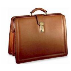 No Shoulder Strap Classic Belting Leather Briefbag