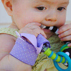 Luscious Lavendar Loopy Baby Rattle Holder