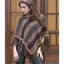 Earth Surprise Alpaca Wool Poncho