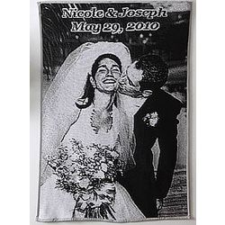 Personalized Black and White Photo Afghan