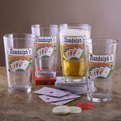 Poker Room Pub Glasses