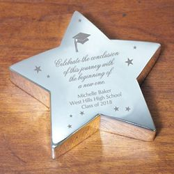 Engraved Graduation Silver Star
