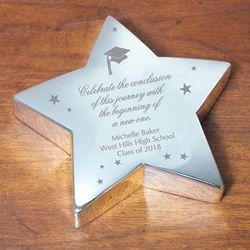 Engraved Graduation Silver Star