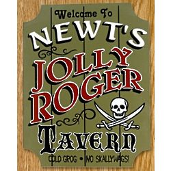 Jolly Roger Personalized Sign