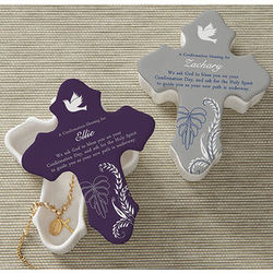 Personalized Confirmation Blessings Ceramic Cross Box