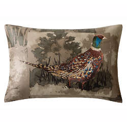 Bird Oblong Embroidered Pillow