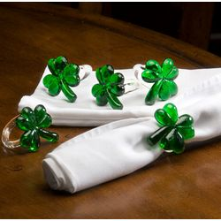 Shamrock Napkin Ring Set