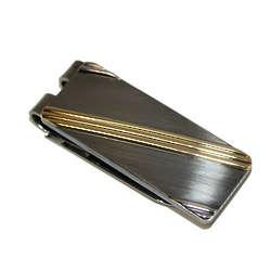 Geoffrey Beene Tri-Color Diagonal Stripe Money Clip