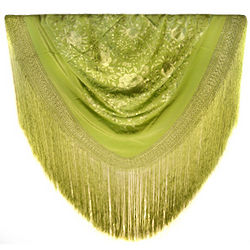 HandmadeTraditional Spanish Imperial Jade Manton Shawl