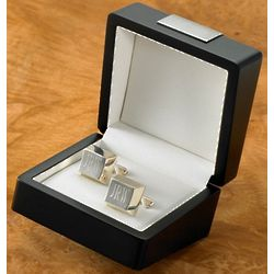 Personalized Sterling Silver Plated Square Cufflinks