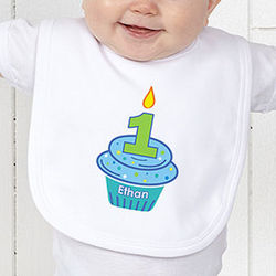 My Little Cupcake Birthday Infant Bib