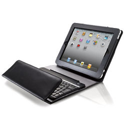 Black Bluetooth Keyboard with Portfolio Case for iPad Tablet