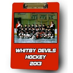 Personalized Hockey Coach Photo Clipboard