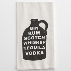 Charcoal Bottle Typography Kitchen Towel