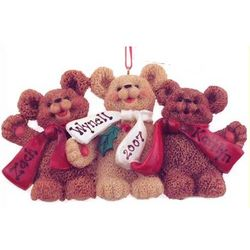 Personalized Bear Family Christmas Ornament