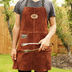 Personalized Handmade Leather Grilling Apron