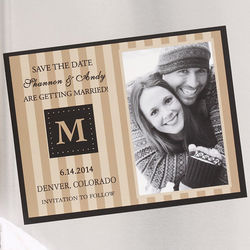 Classic Save the Date Wedding Announcement Photo Magnets
