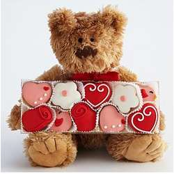 Valentine's Day Bear with Mini Cookie Gift Box