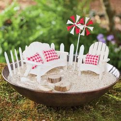 Miniature Fairy Beach Furniture Garden