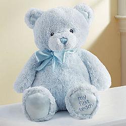 My First Blue Teddy Bear with Hand Print Kit