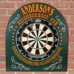 Personalized Neighborhood Pub Dartboard Sign