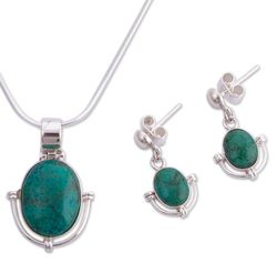 'Mystique' Chrysocolla Jewelry Set