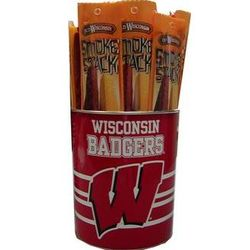 Wisconsin Badgers Sports Snack Sticks Canister