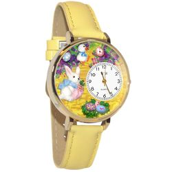 Easter Bunny Watch in Gold (Large)