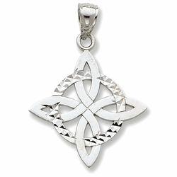 Celtic Knot Trinity Pendant in 14k Gold