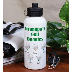 Personalized Golf Buddies Water Bottle
