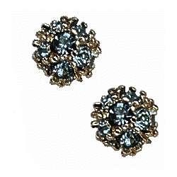 February Birthstone Crystal Ball Earrings